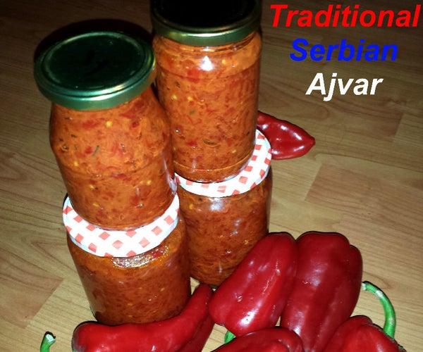 Traditional Serbian Ajvar