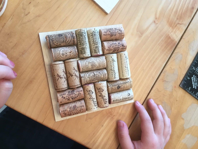 Glue Corks to Base