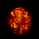 """""""Pennywise... the Dancing Clown!""""  an Instructable on How to Carve a Pumpkin That Replicates the Look of a Shaded Drawing."""