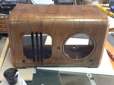 Sand and Re-finish the Radio Case...