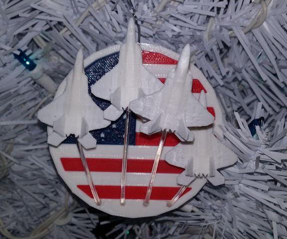 Veteran Memorial Christmas Ornament