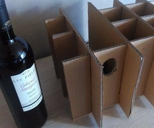 Cardboard Bottle Division to Wine Rack