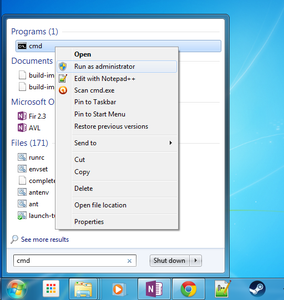 Open Command Prompt As an Administrator - Windows