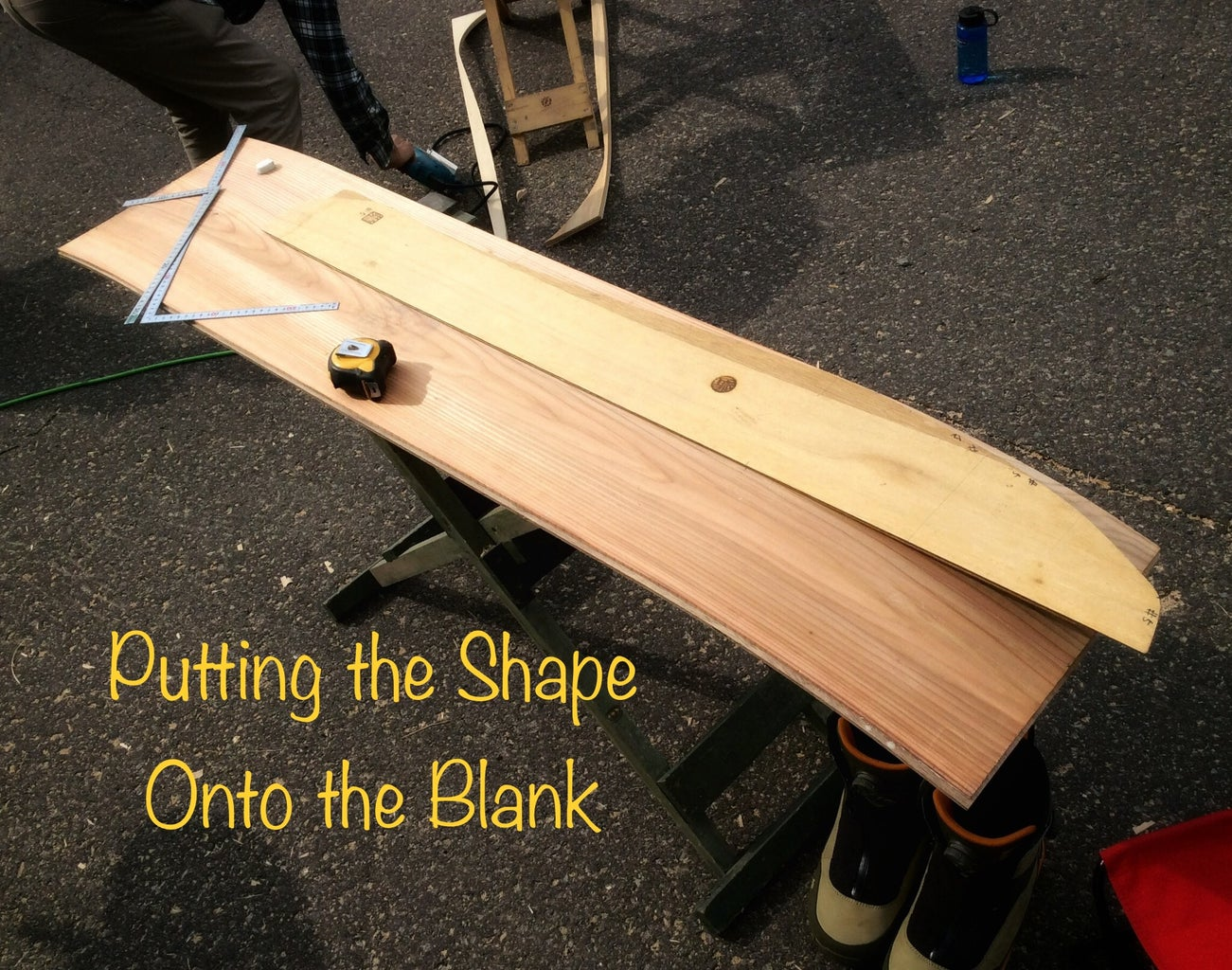 Putting the Shape Onto the Blank