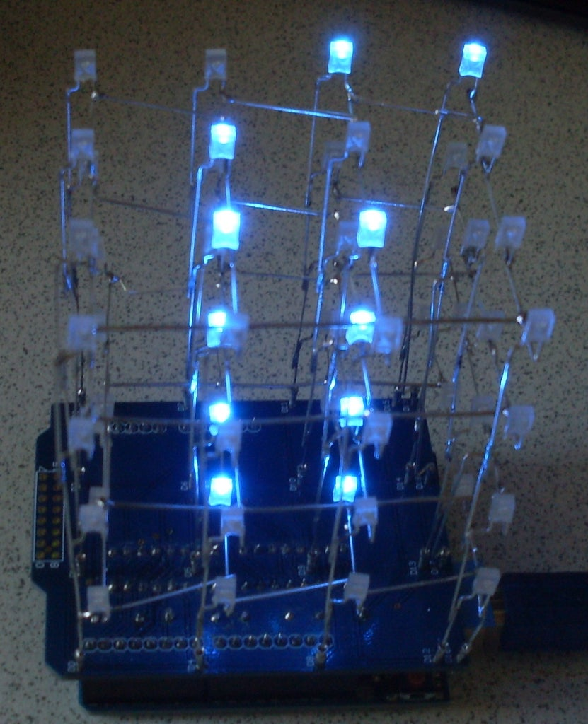 Arduino LED 4x4x4 Cube With 595 Shift Registers DIY Kit