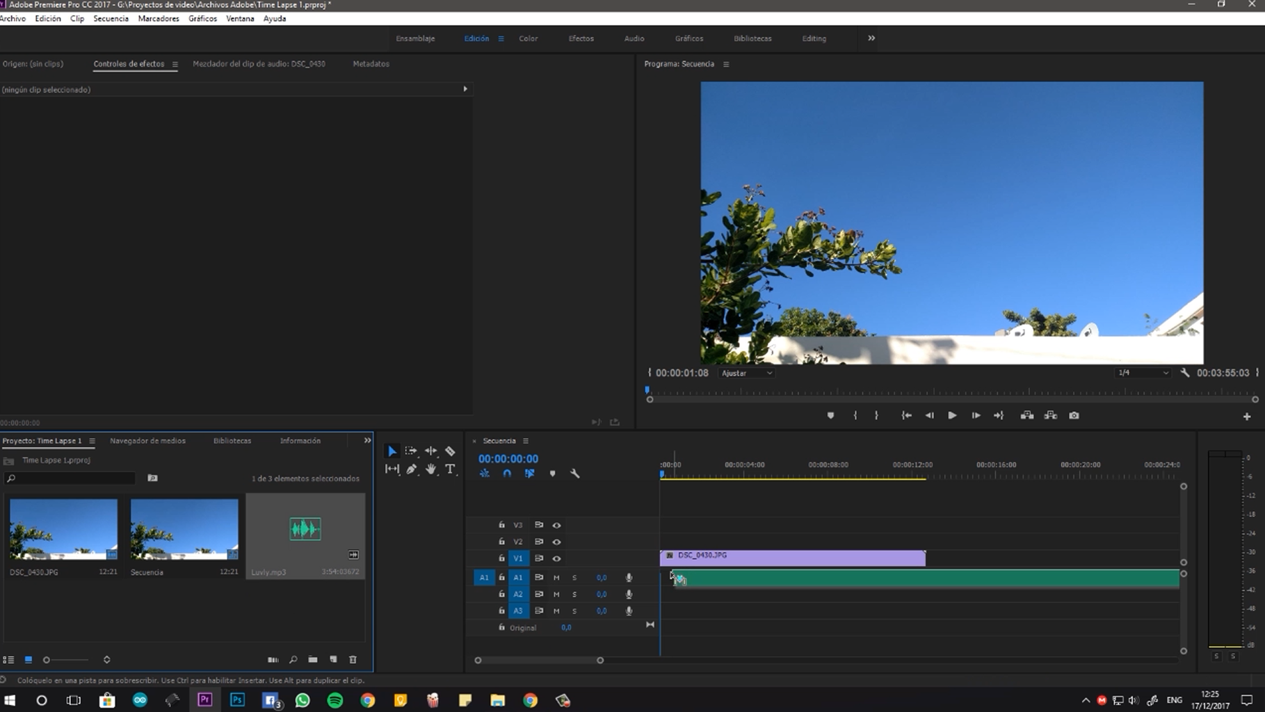 Make the Time Lapse (Premiere Pro)