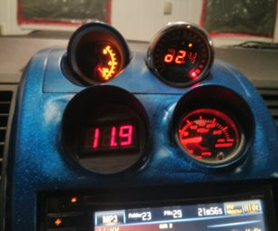 DIY 57mm Automotive Voltage Gauge