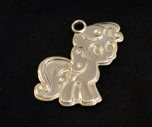 Custom 3D Printed (in Silver) My Little Pony Charm