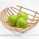 Fancy Wooden Fruit Bowl with 123D Make