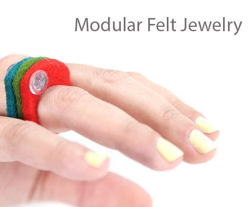 Modular Felt Jewelry