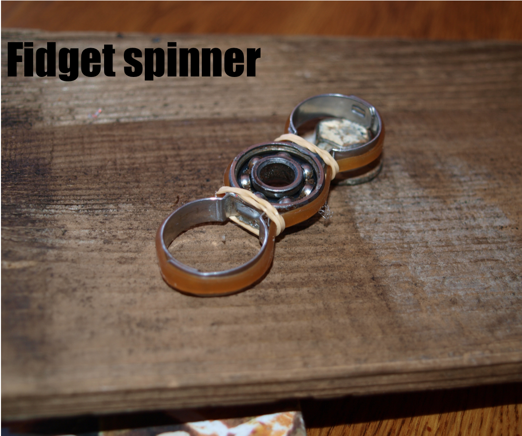 Fidget Spinner From Items in the Garage