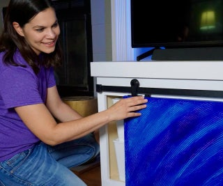 How to Build a TV Stand With Sliding Door and Secret Storage