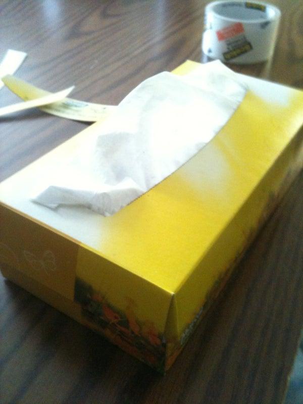 Tissue Box Hidden Compartment
