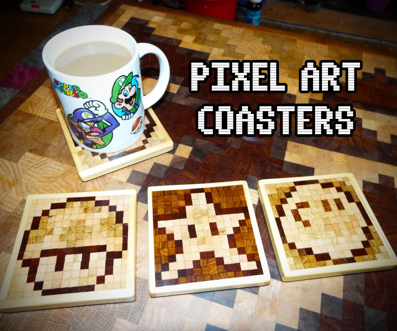 Pixel Art Coasters