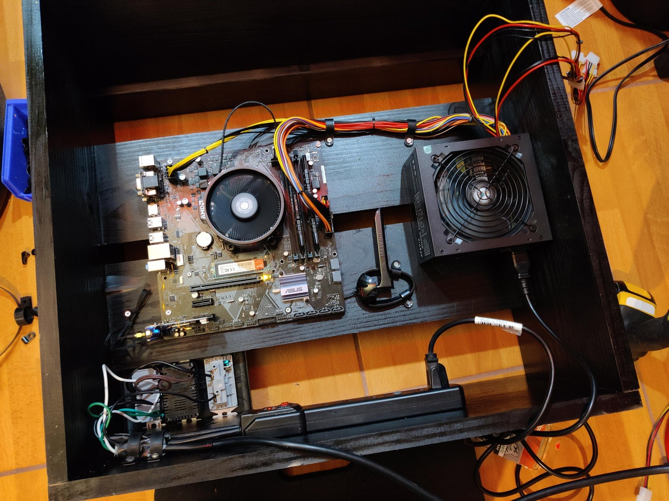 Mount Motherboard and Power Supply