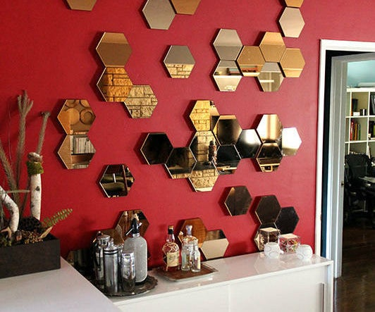 Adding Depth (and Swagger) to IKEA's Otherwise Flat Hexagonal Hönefoss Mirrors