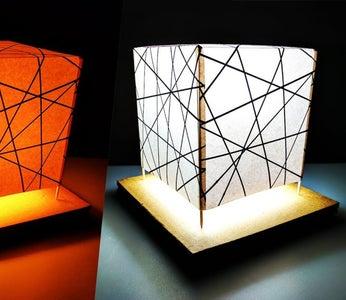DIY Night Lamp Light Stand for Room Decor