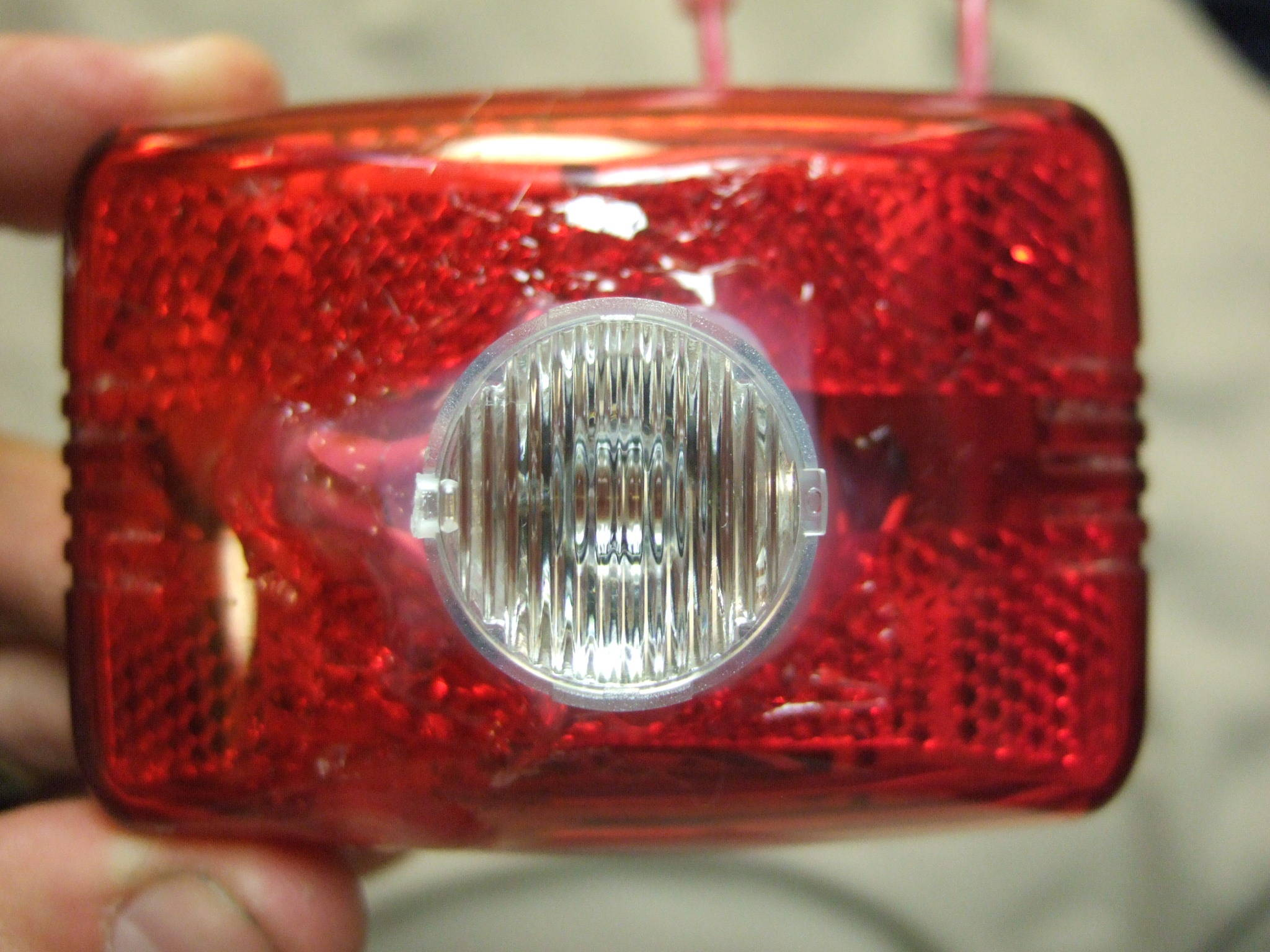 Daylight Visible Bike Light - Front/Rear Combo - 100 Lumens on 2 AA's