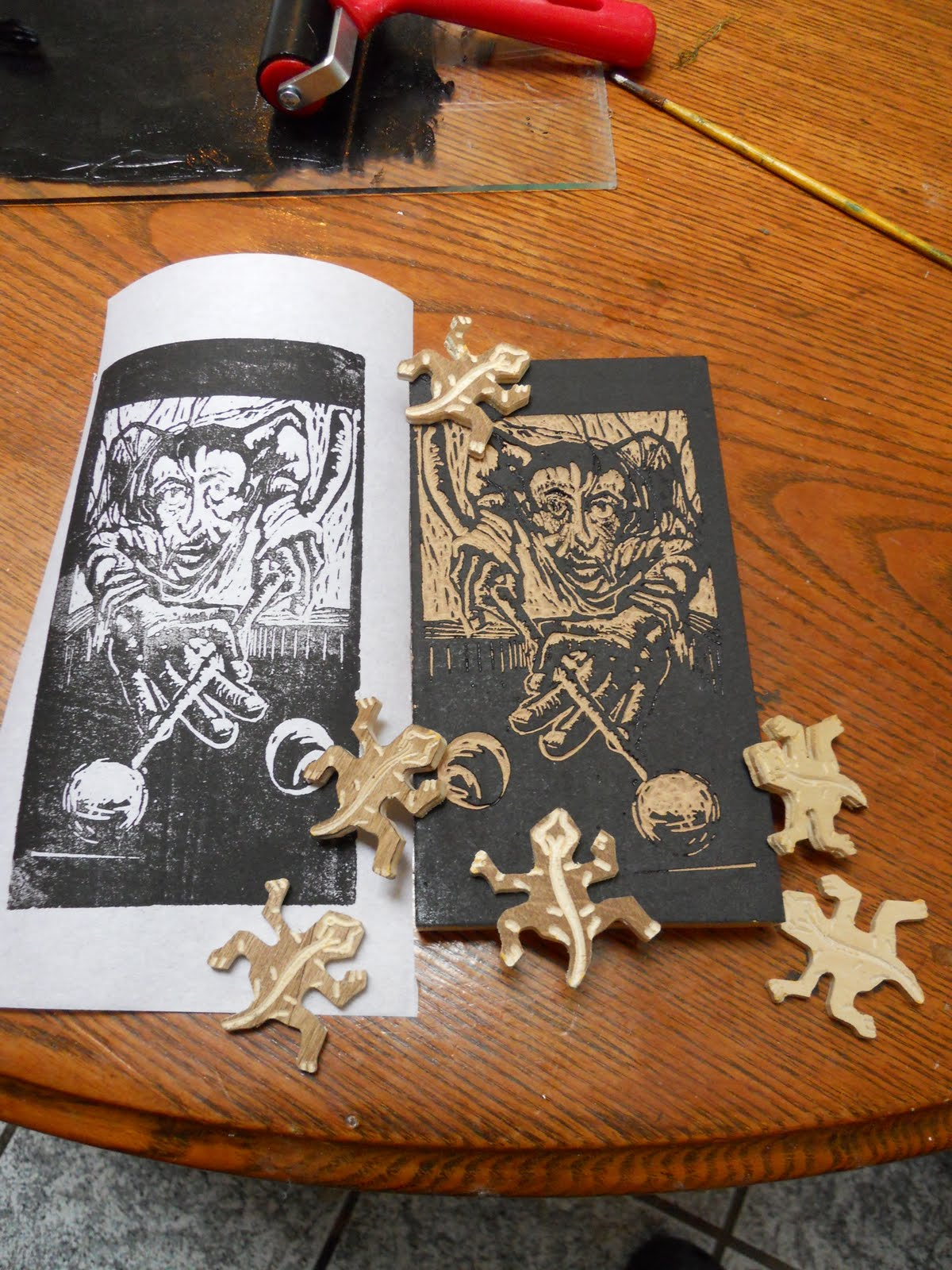 How to make a woodcut from... a photo of a woodcut using your CNC mill