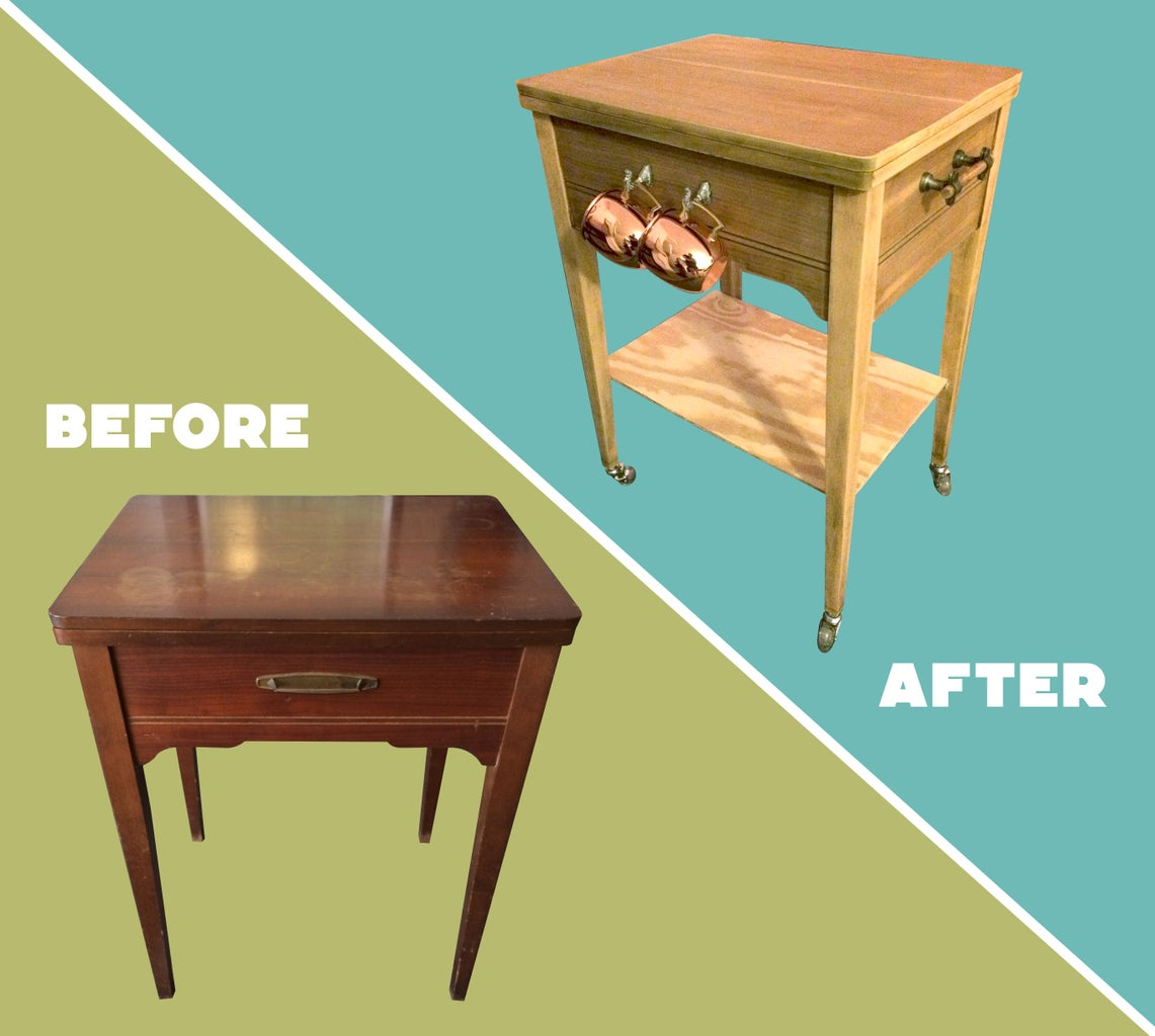 Sewing Machine Table to Bar Cart