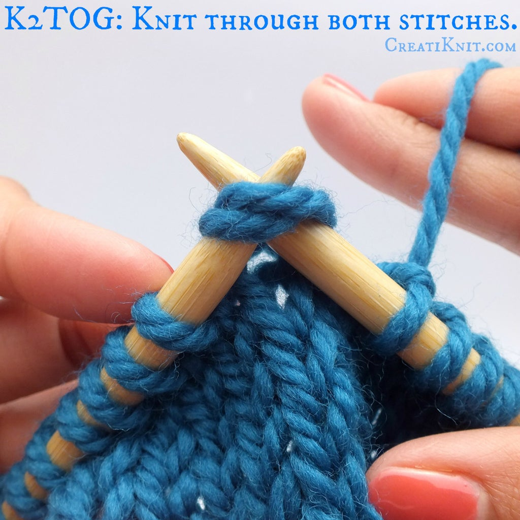 First We'll Start With the K2TOG Stitch. Start Slipping Your Right Needle Into the First Two Stitches on the Left Needle