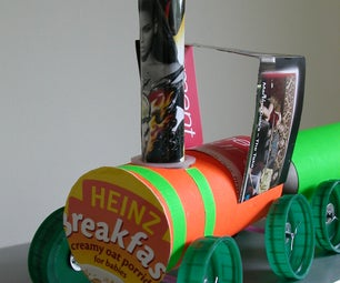Breakfast Express - Toy Train From Toilet Roll Tubes