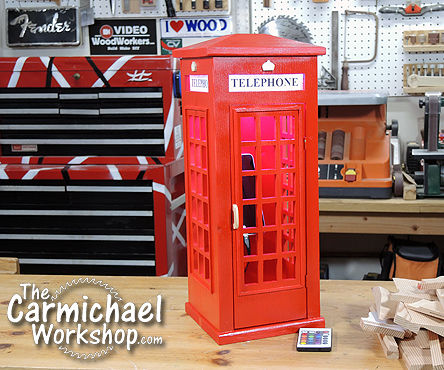 British Phone Booth Lamp and Charger