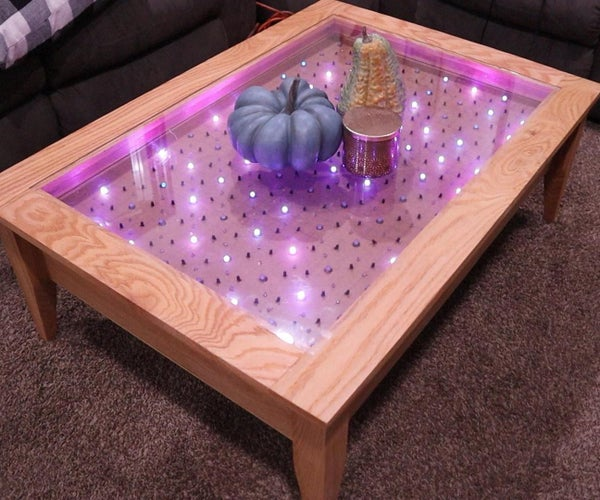 Arduino Interactive LED Coffee Table