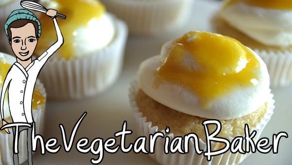 How to Make Vegan Pina Colada Cupcakes (TheVegetarianBaker)