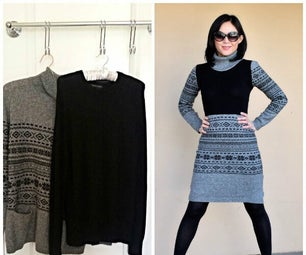 Turn 2 Sweaters Into a Sweater Dress