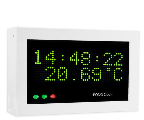 Arduino Pong Clock With Temperature and Timer