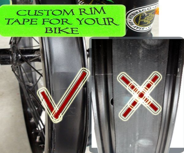 Custom Bicycle Rim Tape That Works!