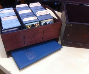 Magic: the Gathering Storage Box With Laser-cut Card Tray & Dividers.