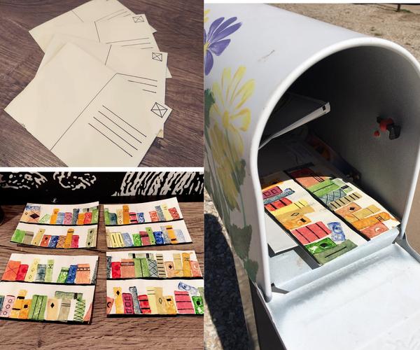 Potato Stamped Postcards