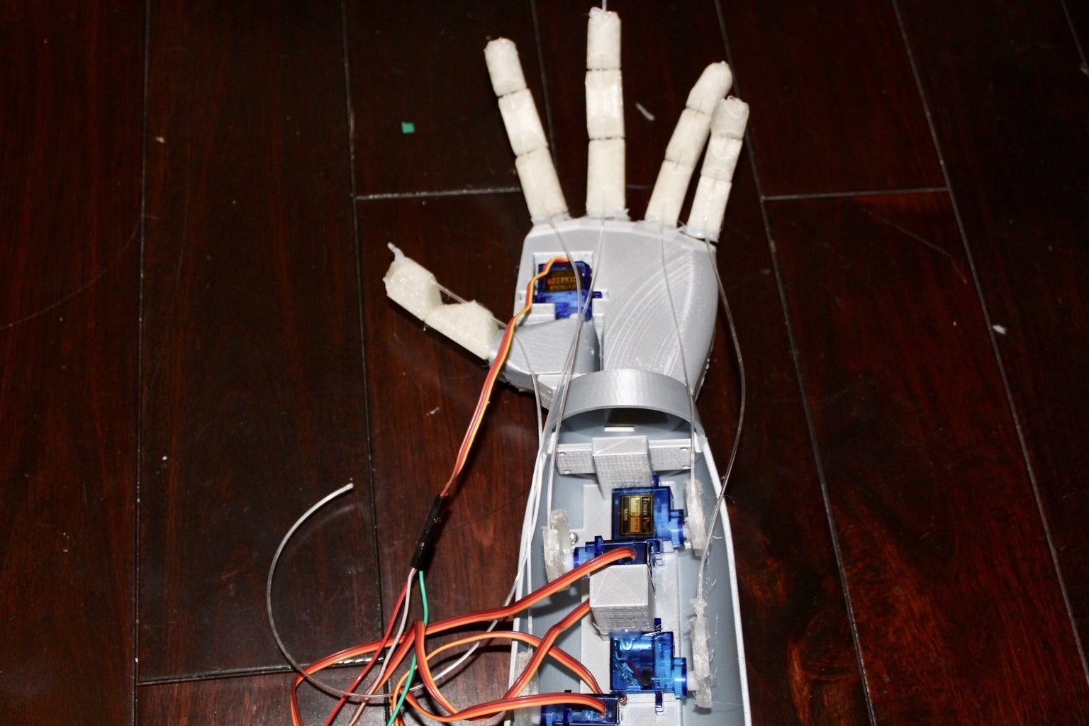 3D Printed Robotic Hand With Bluetooth Control