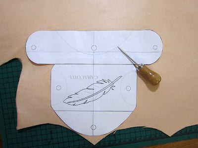 Making the Pattern and Cutting the Case Out of Leather