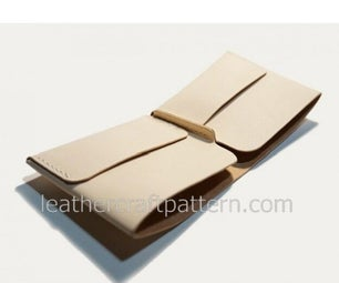 One Piece Leather Wallet - Leather Templates, Leather Template, Leathercraft Patterns