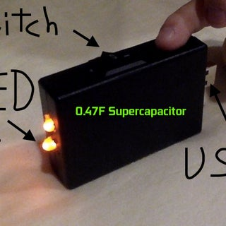 Supercapacitor USB Light