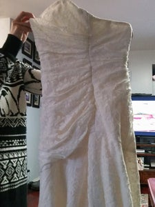 Wedding Gown Alterations and Home Made Veil $11