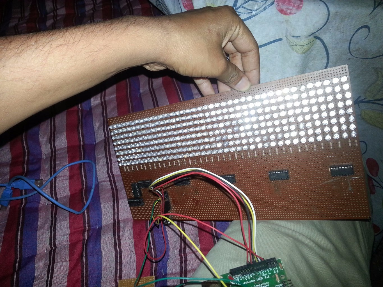 LED MATRIX BOARD AND SCHEMATIC