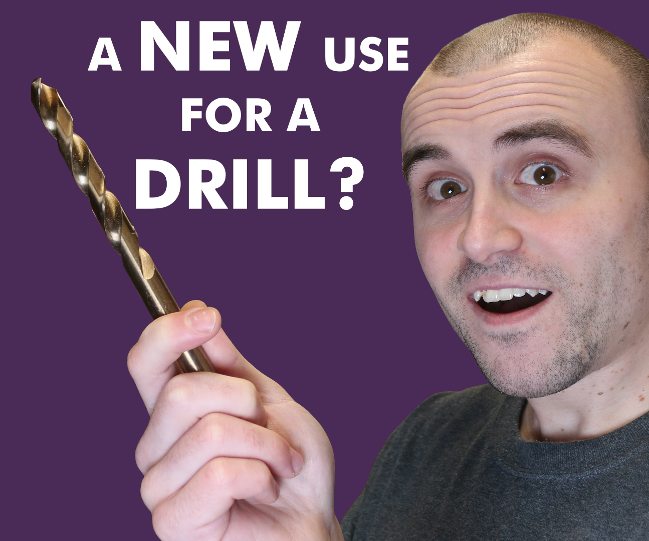 You Can Use a Drill Bit for More Than Drilling Holes!