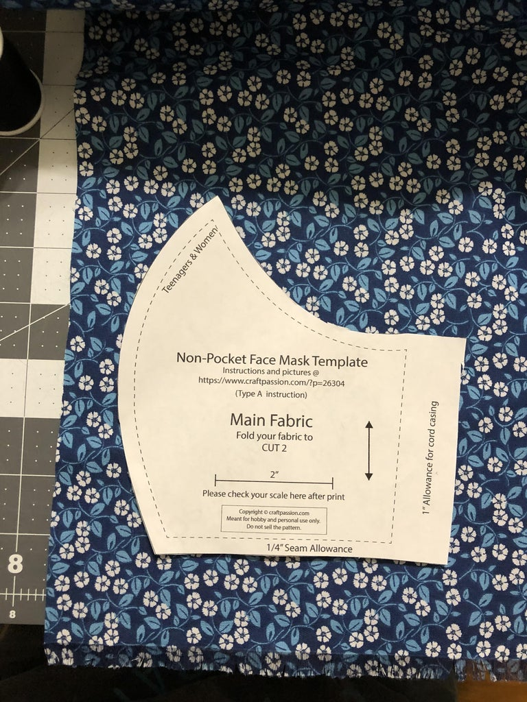 Line Up the Template in the Fabric and Cut It Out.