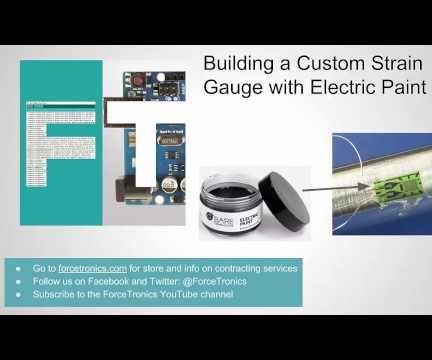 Using Electric Paint to Create a Custom Strain Gauge