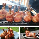 Maple Glazed Bacon Wrapped Chicken Lollipops
