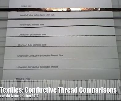 Conductive Thread Comparisons