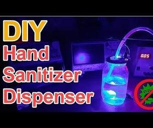 DIY Non Contact Hand Sanitizer Dispenser Without an Arduino or a Microcontroller