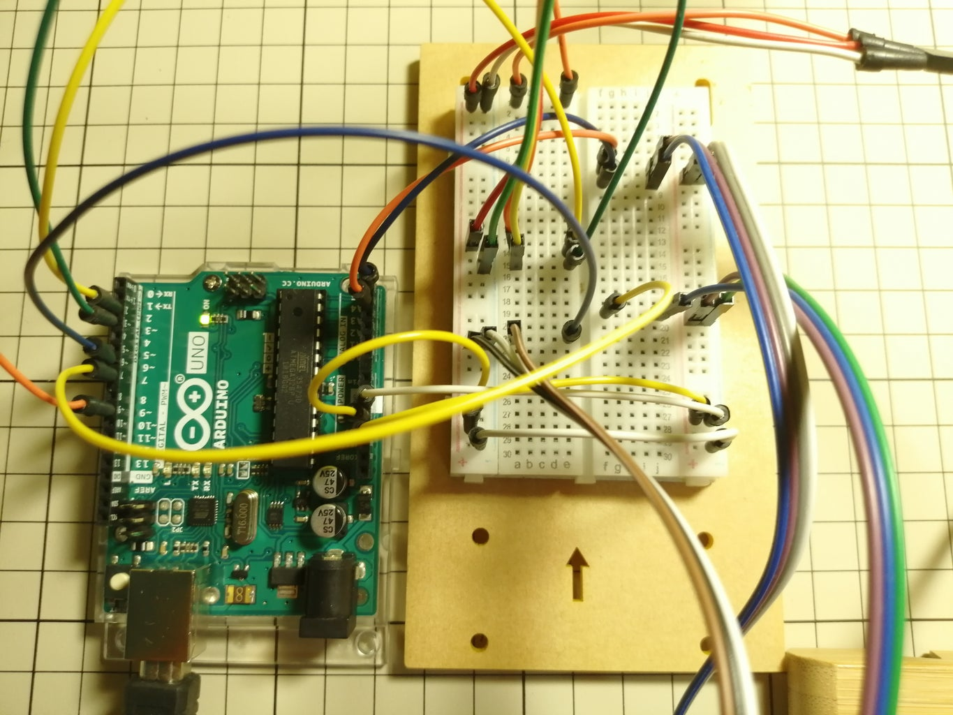 Connect All the Sensors to Arduino Via the Breadboard