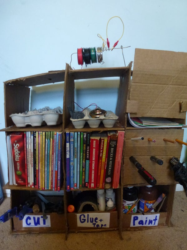 Cardboard Workshop Organizer