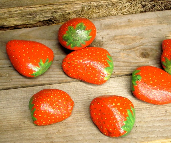 Decoy Strawberry Rocks to Deter Bird Burglars