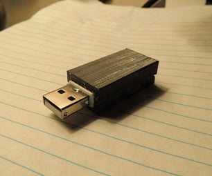 Hidden flash drive in mouse dongle